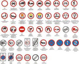 Основні дорожні знаки на дорогах України